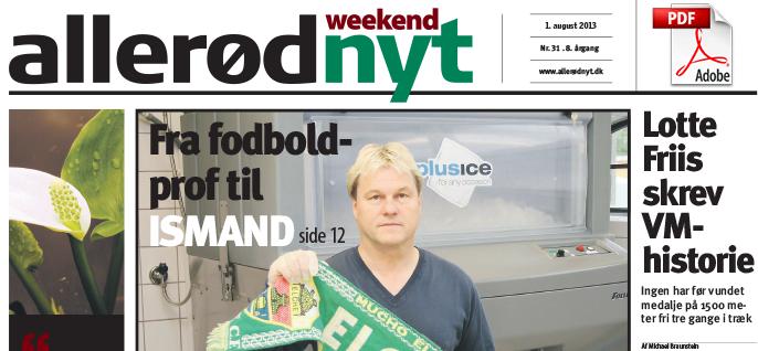 "Tommy i ""Allerød Weekend Nyt"""